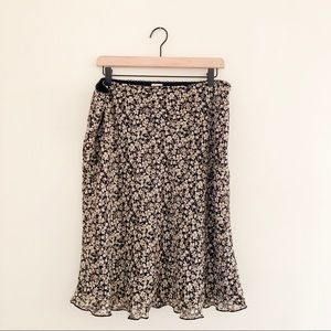 Old Navy Plus Size Floral Flowy Daisy Print Skirt